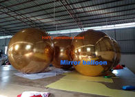 Golden 2.5m Inflatable Mirror Ball Floating Sliver Disco Balloon For Events