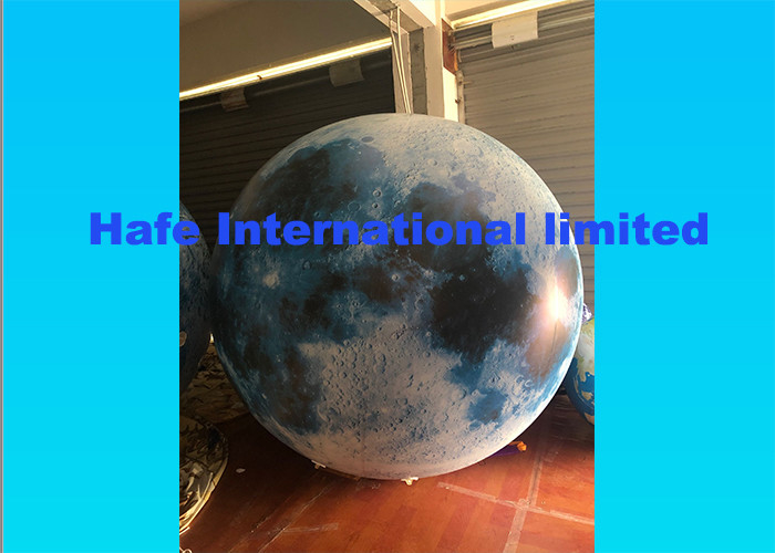 Attractive Reusable Inflatable Advertising Balloon Helium Moon Balloon For Festival